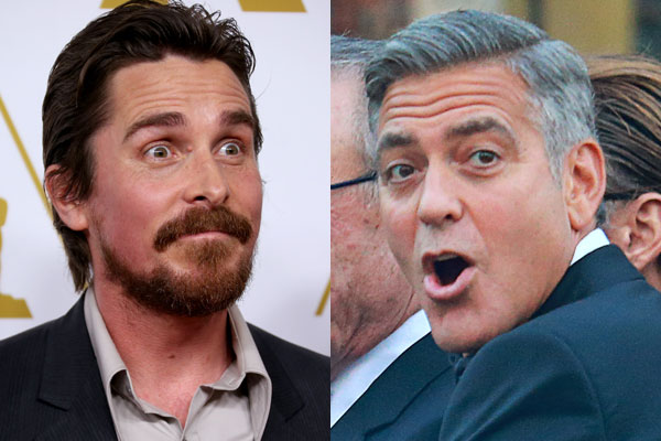 Christian Bale tells George Clooney to 'shut up' and 'stop whining'