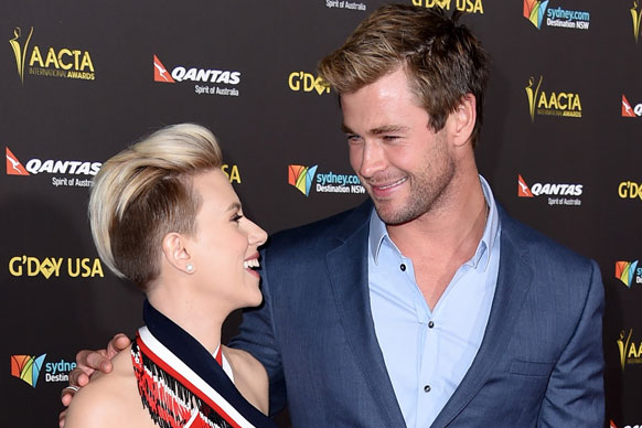 Is it just us or does Chris Hemsworth's wife Elsa Pataky and Scarlett Johansson look scarily similar?<br/><br/>We're guessing the Hollywood hottie feels the same way, taking a bunch of different shots with ScarJo at the 2015 G'Day USA Gala. Perhaps he's just got a type?<br/><br/>Surrounded by his Aussie alumni for the Gala, Chris and Elsa stepped out to celebrate The AACTA International Awards off the back of last week's Aussie ceremony. You know, the one Ryan Gosling crashed. <br/><br/>Flick through for the best red-carpet moments so far (and some more perve-worthy Hemsworth shots!)