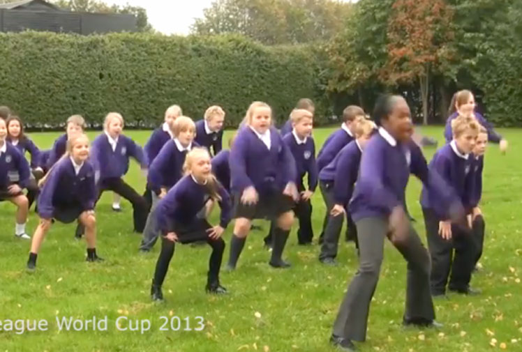 <b> Rugby league World Cup fever has hit the north of England, with another group of school children taking part in a war dance face-off with the Samoan team. </b><br/><br/>After some Doncaster schoolchildren welcomed the Kiwis last week with a version of the haka, some kids in Warrington have attempted Samoa's version, the Siva Tau. <br/><br/>Click through to see the English children's take on the fearsome war dances.