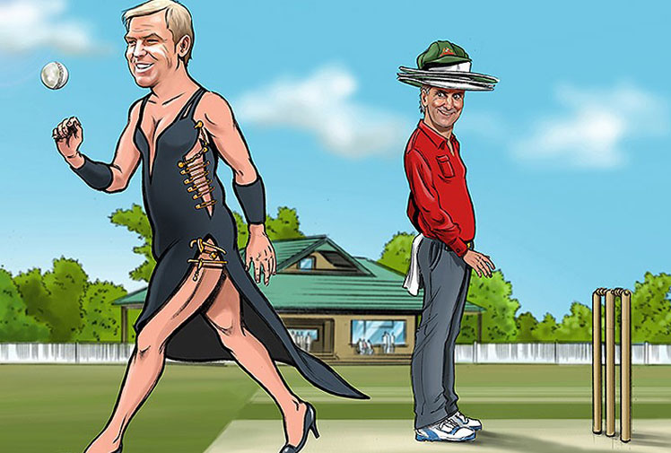 <b>Ever wondered what Shane Warne would look like in Liz Hurley's famous 'safety pin dress'? Well wonder no more thanks to these funny - and slightly disturbing - images...</b><br/><br/>British illustrator James Husbands has created a series of 'sexy' calendars for 2014, which places some well-known sports stars in a variety of hilariously 'sexy' poses.<br/><br/>Click through to see some of our favourites...