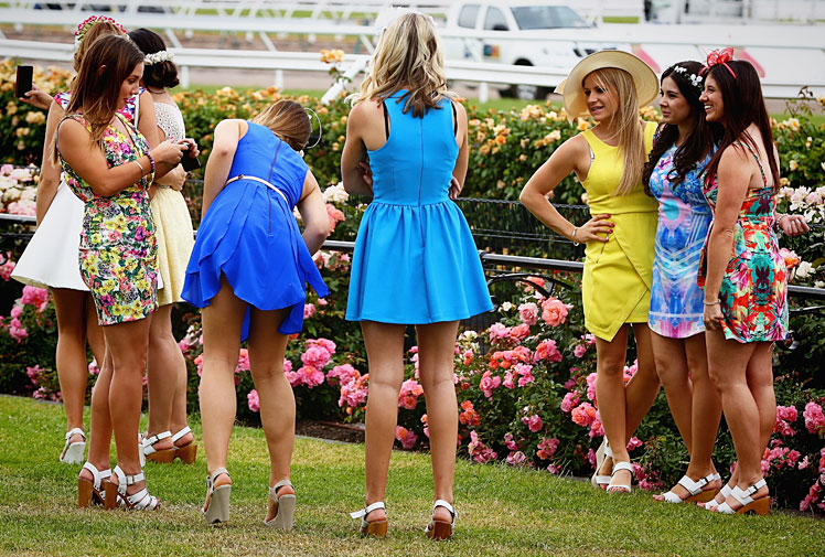 <b>Ladies Day at Flemington has turned nasty after a female strapper was viciously assaulted by a man. </b><br/><br/>The woman was waiting for a winner to return to the mounting yard on Oaks Day when the man, believed to be someone she knew, attacked her.<br/><br/>The John Sargent trained Kirramosa took out the Group One Crown Oaks in a tight finish ahead of Zanbagh and Solicit.<br/><br/>The trackside action was dominated by fashion and celebrities as women took advantage of their day in the Melbourne Cup festival. <br/><br/><br/><br/>