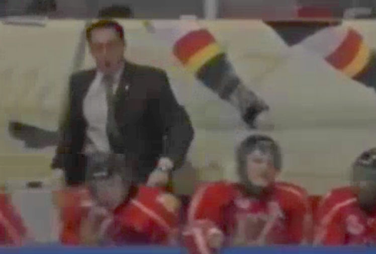 <b>A junior ice-hockey coach in Canada has been banned for two matches after hurling sticks toward a referee.</b><br/><br/>Eric Veilleux oversees Baie-Comeau Drakkar in Quebec's junior league and was also fined over the incident that was triggered by a disagreement over the official's call.<br/><br/>Footage shows Veilleux screaming abuse before taking his players' sticks and hurling them onto the ice. Coaches should know better, but sometimes their emotions get the better of them. Check out these classic meltdowns...<br/>