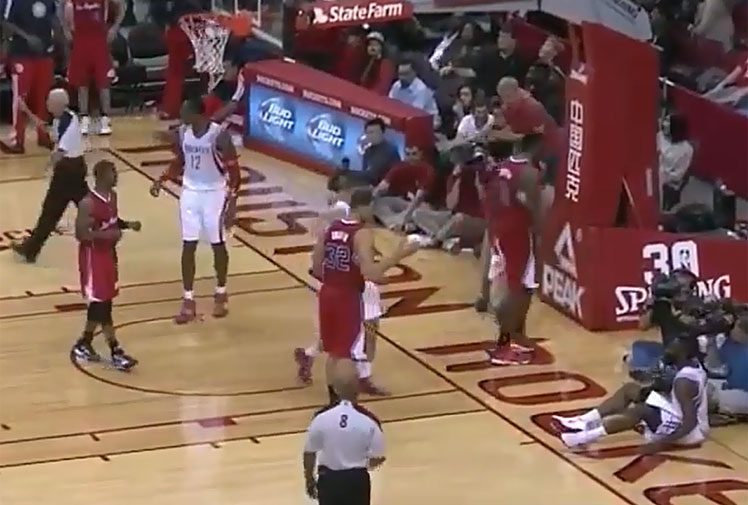 <b>Houston Rockets shooting guard James Harden has been fined US$5000 ($5400) for his second violation of the NBA's anti-flopping policy this season.</b><br/><br/>After regathering a rebound from his own missed shot, Harden moved towards LA Clippers forward Blake Griffin, before flinging himself backwards onto the court after minimal contact.<br/><br/>The ploy worked, earning him free throws and placing him amongst a legion of sportsmen feigning injury to fool match officials.<br/>