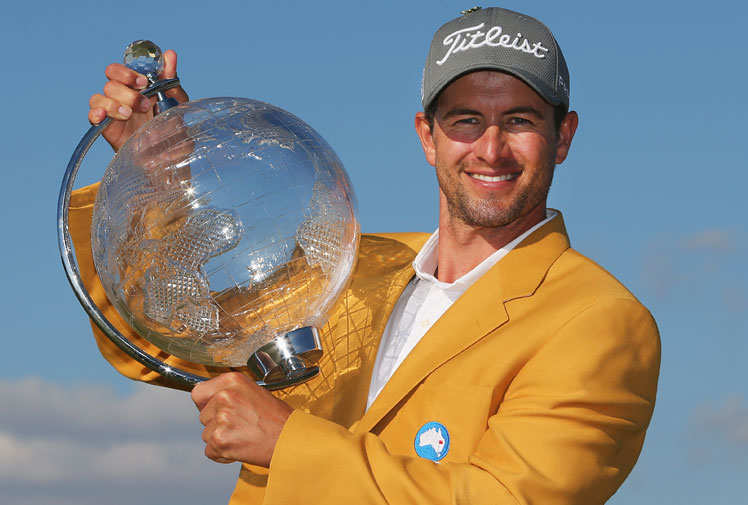 <b>Adam Scott has continued his amazing run of form, holding off a challenge from American Mark Kuchar to defend his Australian Masters title in Melbourne.</b><br/><br/>The battle with Vijay Singh fizzled early as the Fijian champion failed to fire. An electric opening nine from Kuchar saw him hit the lead only to crumble with a double bogey on the 18th.<br/><br/>Scott looks to Sydney for the Australian Open hoping to become only the second golfer ever after Robert Allenby to win the Australian trifecta in the one season. <br/><br/>(Getty Images)