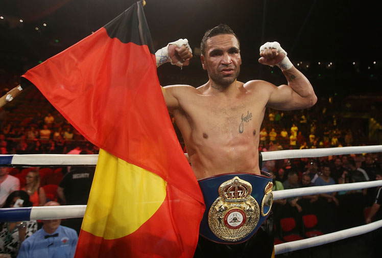 "<b>Anthony Mundine is vowing to target the world's best boxers after beating ageing and stricken American superstar Shane Mosley for the vacant WBA International super welterweight title.</b><br/><br/><a href=""http://wwos.ninemsn.com.au/article.aspx?id=8762388""><i>Is Mundine 'The Man'? Have your say. </i></a><br/><br/>The 42-year-old American had to retire after the sixth round following a severe back spasm.<br/><br/>Desptie cynicism among fans who'd paid to watch the fight, Mosley said he couldn't move and a doctor and the referee confirmed he was genuinely hurt. (Getty Images)<br/><br/><br/><br/>"