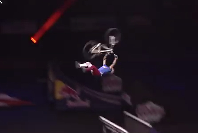 """<b>It's pretty impressive when a rider pulls off a backflip, but when you double that effort, the question gets asked: Is this the biggest bike trick of all time?</b><br/><br/>We'll let you be the judge, but the world first Superman double backflip on a mountain bike by Ethen Godfrey-Roberts is pretty epic.<br/><br/>The Salt Lake City, Utah, native even had Nitro Circus creator and veteran stunt performer Travis Pastrana in awe.<br/><br/>""""It was like double-back tsunami,"""" he said.<br/><br/>Click through to see more death-defying tricks."""