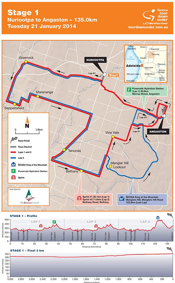 Stage 1 - Nuriootpa to Angaston