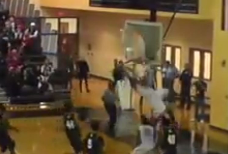 <b>Some of basketball's biggest stars have shattered backboards with huge dunks, but not many, if any, have destroyed a backboard with their first ever dunk while they were in high school. </b><br/><br/>Panther Creek's Nubian Spann can say he's done just that after he latched onto a teammate's alley-hoop pass before shattering the glass backboard with an explosive slam. <br/><br/>Check out Spann's effort and other backboard-shattering dunks. <br/><br/>