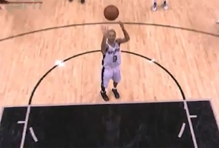 <b>An NBA star has produced one of basketball's worst free throws with an attempt that barely made it halfway to the basket.</b><br/><br/>Tony Parker plays for the San Antonio Spurs and was sent to the line after being fouled against the Chicago Bulls.<br/><br/>While his shot appeared woeful, it turned out that he had been distracted by a referee and was allowed to have the throw again.<br/><br/>The effort is nevertheless making worldwide headlines and being compared to basketball's worst free throws.