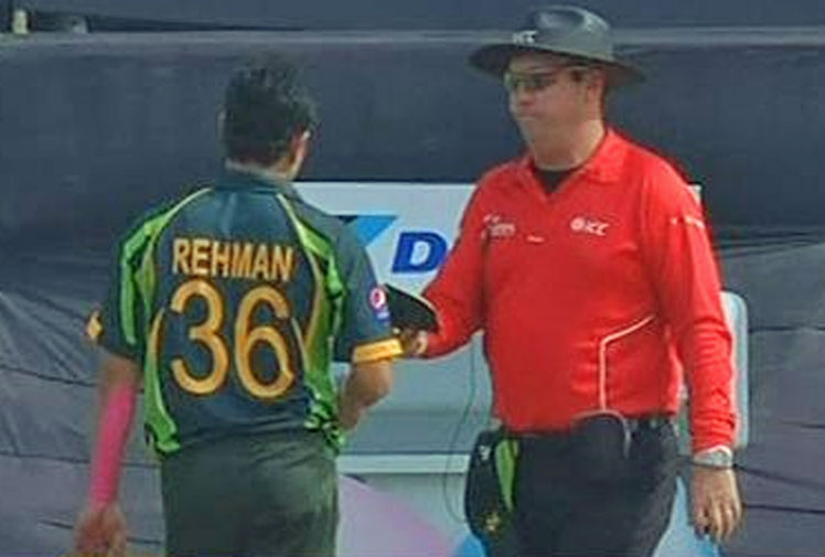 <b>Cricket may have witnessed its worst ever over courtesy of Pakistan's Abdur Rehman. </b><br/><br/>The spinner delivered three consecutive no-balls which were all above waist height in an Asian Cup match against Bangladesh.<br/><br/>So bad was the display that the umpire pulled him from the attack and banned him from bowling again. It meant he finished with the figures of 0-8 off 0.0 overs.<br/><br/>His first ball was among the worst deliveries the game has seen. Check them out.<br/><br/><br/>