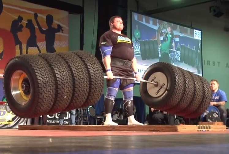<b><b>If you're a bit of a gym junkie and like to lift weights, here's something to aim for.</b><br/><br/>Earlier this month, Zydrunas Savickas of Lithuania took out his seventh Arnold Strongman Classic by deadlifting a world record 524kg.<br/><br/>Savickas made it look all too easy as he lifted the eight Hummer tyres to take out the event.<br/><br/>Click through to see some other amazing lifting feats.