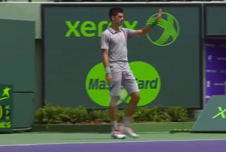<b>Novak Djokovic has won praise for giving away a point as a sporting gesture to Tommy Robredo during their quarter-final clash at the Miami Masters. </b><br/><br/>The Serbian world No.2 surrendered a point to his Spanish rival in the third game of the second set after a line judge mistakenly called a Robredo return out.<br/><br/>Instead of re-playing, Djokovic donated the point, drawing applause from fans and commentators.<br/><br/>Click through to see Djokovic's gesture and other inspiring examples of sportsmanship...