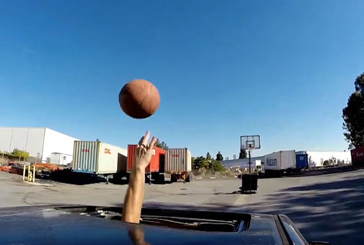 <b>Just when you think you've seen it all, along comes a stuntman and takes trick shots to a whole new level. </b><br/><br/>David Kalb has done just that in his latest video in which he utilises a car's sunroof to show off his basketball skills while driving, dribbling balls and nailing a freak basket.<br/><br/>Take a look for yourself and decide whether they're among the best tricks you've ever seen.<br/>
