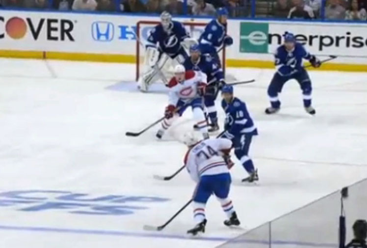 <b>In Australia, we like to think we have the world's most brutal sporting codes but an NHL star has reminded us of the incredible toughness required to play ice hockey. </b><br/><br/>Montreal Canadiens star Brendan Gallagher was in action against Tampa Bay Lightning when he was struck on the throat after a fierce shot from one of his teammates.<br/><br/>Instead of clocking out of the game, the winger was straight back into the action as the Canadiens won the opening game of the finals series, 5-4.<br/><br/>Click through to see some of ice hockey's most brutal moments.<br/>