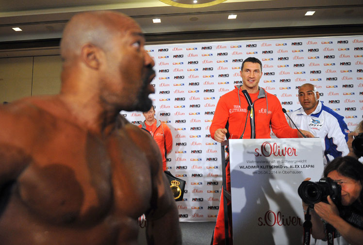 """<b>If you thought the scenes at the Wladimir Klitschko-Alex Leapai pre-fight press conference were chaotic, think again. </b><br/><br/>The conference was disrupted by another heavyweight, Shannan Briggs, who appeared out of the media pack to taunt both fighters, as well as take his shirt off and do push ups. <br/><br/>Leapai revealed later that if it wasn't for Klitschko's calming influence then he would have fought Briggs, who repeatedly taunted the Australian, saying he was just """"target practice"""" for the Ukrainian great. <br/><br/>Click through to see how tame this boxing press conference was compared with the truly chaotic. <br/><br/><br/>"""