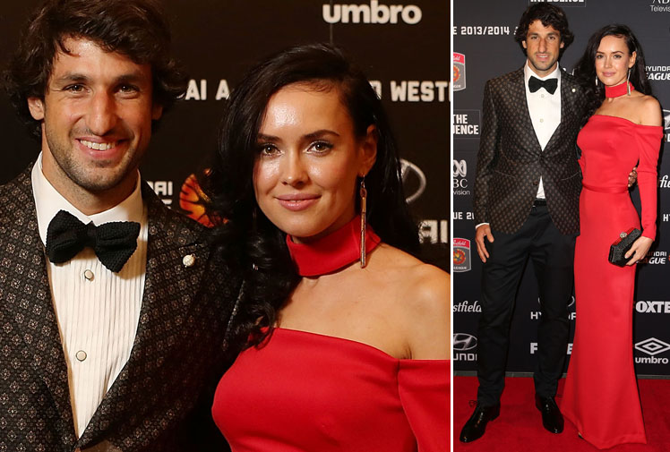 <b>Brisbane Roar playmaker Thomas Broich created A-League history on Australian football's major awards night, becoming the first player to win a second Johnny Warren Medal as the competition's player of the year.</b><br/><br/>Broich, who also won the players' player award for the 2011/12 season, had another impressive campaign for Brisbane with his exceptional footwork and vision playing a key role in Roar winning the Premiers' Plate and reaching a third grand final in four years.<br/><br/>The wives and girlfriends of the A-League's best players also competed for headlines, making a big statement on the red carpet. (Getty Images)