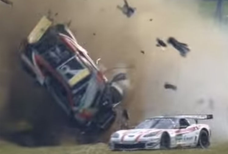 <b>Drivers in a pro-am series in Germany have highlighted the dangers of race starts after a spectacular crash involving six vehicles.</b><br/><br/>The drivers were jostling for position from a rolling start in the ADAC GT Masters at Oschersleben when a minor collision triggered a horrific chain of events that saw one vehicle barrel-roll after slamming into a wall.<br/><br/>Drivers and riders in all forms of racing will attest that there's a fine line to starting an event. Get it wrong and it may cost you dearly, as these videos prove.