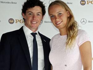 Rory McIlroy and Caroline Wozniacki. (Getty-file)