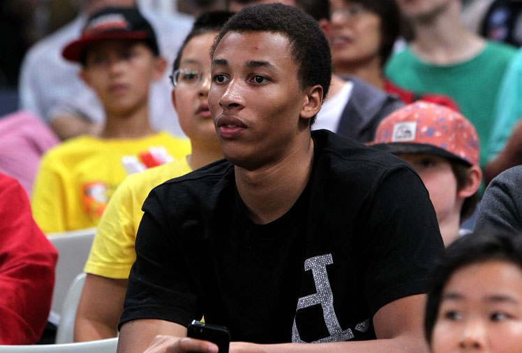 <b>With the basketball world at his feet ahead of the NBA draft, Dante Exum is about to become one of Australia's most famous athletes.</b><br/><br/>Here's a quick intorduction to the 18-year-old, who is currently getting advice from US superstar Kobe Bryant, on how to cope with the expectation placed on his young shoulders.<br/><br/>Dante is expected to be among the first five picks - possibly No1 - in the NBA draft with Orlando Magic likely to snap him up on a two-year $9 million deal, while TV endorsements have already begun.<br/><br/>