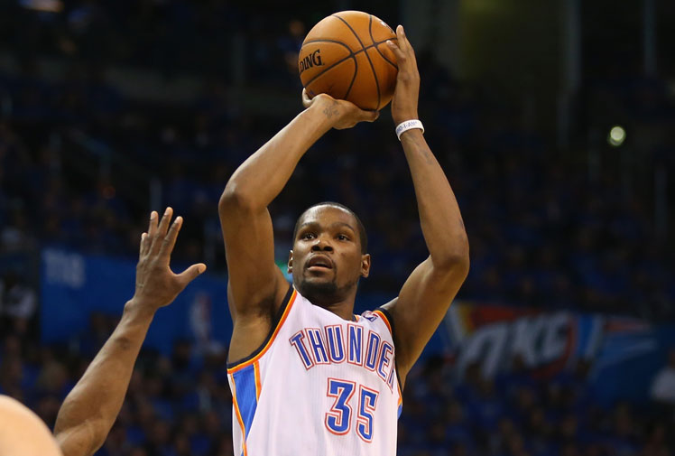 <b>When it comes to sponsorship deals no one ever outshoots a US basketballer and the NBA's reigning most valuable player, Kevin Durant, is set to be king of the hill.</b><br/><br/>The Oklahoma City star has just been offered one of the biggest ever sporting contracts - a monstrous $265-$285 million deal with sportswear company Under Apparel, which is three times his deal with Nike. <br/> <br/>Here's sport's top 10 sponsorship deals - headed by the legendary Michael Jordan.<br/>