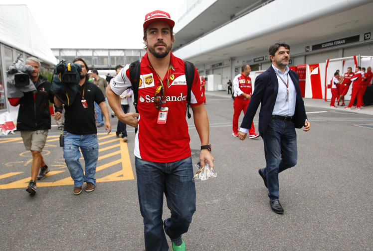 <b>Formula One driver Fernando Alonso's salary is set to jump, with current team Ferrari hoping to ward off interest from rivals McLaren Mercedes.</b><br/><br/>The Italian giants have begun contract talks with the Spaniard after rumours emerged that McLaren were preparing a $75 million deal to lure Alonso.<br/><br/>However, it is believed Ferrari are willing to top up Alonso's current contract to the tune of $45 million to keep their star.<br/><br/>No matter what, Alonso is set to dominate Formula One's rich list …<br/>