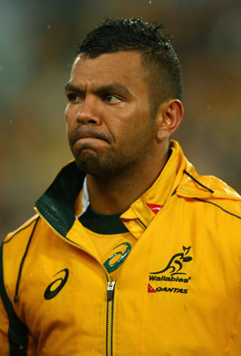 <b>Kurtley Beales's Wallabies future is in serious jeopardy following the star's latest off-field controversy.</b><br/><br/>Beale has found himself in hot water again after sending two crude picture messages to Wallabies staffer Di Patston.<br/><br/>The images were sent in June, but are believed to be behind a recent mid-air stoush involving the pair that has since led to her resignation due to stress.<br/><br/>Beale's career has been punctuated by off-field indiscretions.<br/>