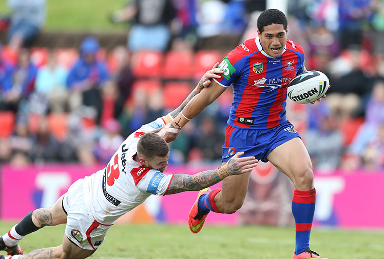 <b>Newcastle teenager Sione Mata'utia and South Sydney heroes Alex Johnston and Dylan Walker are among 10 newcomers selected in coach Tim Sheens' 24-man Australian squad for the Four Nations.</b><br/><br/>With a raft of big-name players unavailable for selection, Sheens ushered in generation next - but admitted not all of the rookies would make their Test debuts during the tournament.<br/><br/>Mata'utia, 18, will become the youngest Test player in history if he earns a start after playing just seven NRL games since debuting for the Knights in July.