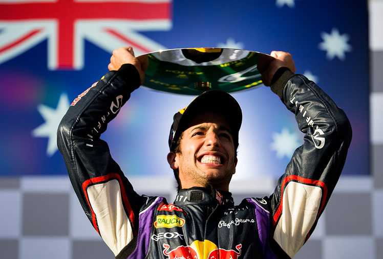 <b>Australia's Formula One king Daniel Ricciardo has enjoyed a season to remember as he became a bona fide racing superstar in 2014.</b><br/><br/>Claiming three victories and five third place finishes, the 25-year-old's performances have lit up the track like his megawatt smile.<br/><br/>The former HRT and Toro Rosso driver claimed third spot in the drivers' championship, helping his Red Bull team to second in the constructors' title race.<br/><br/>Click through to check the highs and lows of the star's wonder year.