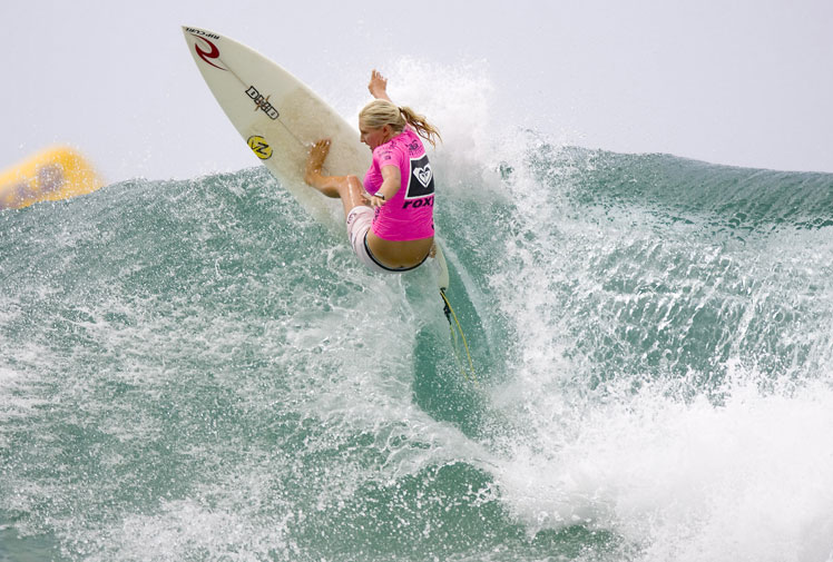 <b>Australia's Stephanie Gilmore has claimed her sixth world title after a nail-biting finish to the ASP women's tour at the Maui Pro in Hawaii.</b><br/><br/>The 26-year-old was eliminated in the quarter-finals of the season-ending event but managed to hold onto the crown when closest rival Tyler Wright failed to win the final.<br/><br/>The title win followed her triumphs in 2007, 2008, 2009, 2010 and 2012 and leaves her one behind Layne Beachley as the greatest ever women's surfer. Click through Steph's journey from rookie world champ to six-time winner.