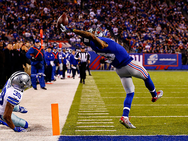 'Greatest NFL catch ever' star shows off