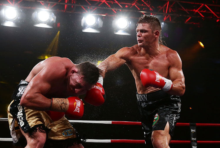 <b>Paul Gallen's grudge bout against Anthony Watts was stopped inside the first round after the former NRL bad boy dislocated his shoulder. </b><br/><br/>The bout at Sydney's Hordern Pavilion lasted 88 seconds before referee Mick Heafey called it off because Watts was unable to continue.<br/><br/>In the main event, former middleweight world champion Daniel Geale took a step towards earning another title shot with a unanimous points win over Jarrod Fletcher.