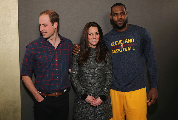 <b>He may be basketball's so-called 'King', but that doesn't mean that LeBron James can get away with everything.</b><br/><br/>After performing in front of - and then meeting the Duke and Duchess of Cambridge - James placed his arm around Princess Kate, sparking a firestorm in Britain that he'd broken royal protocol.<br/><br/>Royal aides, however, have been quick to dismiss the accusation, saying the Prince and Princess want people to feel comfortable around them and the NBA superstar had done nothing wrong.