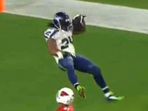 NFL star celebrates touchdown with crotch grab