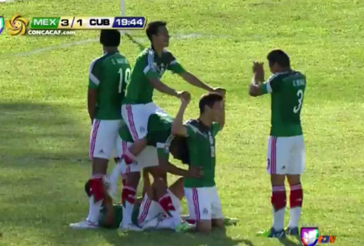 <b>The Mexico youth football side have ridden off with a contender for the greatest goal celebration at the CONCACAF U-20 tournament.</b><br/><br/>Mexico was playing Cuba in the Jamaica-based tournament when they built a five-man working, but not moving, bicycle to celebrate Alejandro Díaz Liceaga's goal.<br/><br/>The celebration was one of many goal-scoring highlights as the Mexicans ran out 9-1 winners.<br/><br/>Click through to see some of greatest and most light-hearted goal celebrations in world football.