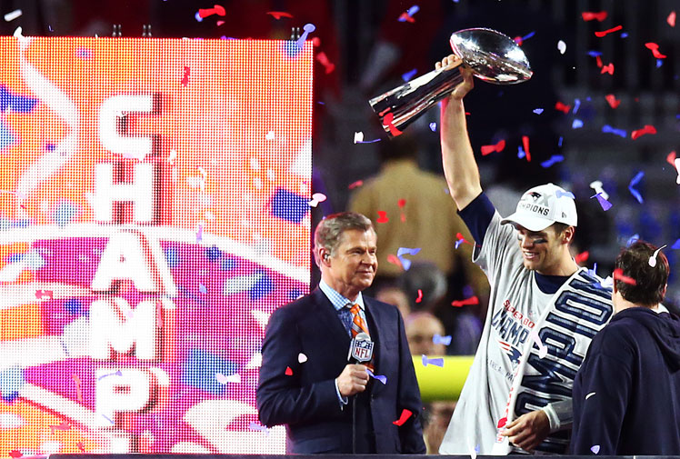 <b>The New England Patriots are again the toast of the NFL after beating the Seattle Seahawks 28-24 in Super Bowl XLIX.</b><br/><br/>The Patriots rallied from a 10-point deficit in the fourth quarter to end the hopes of the Seahawks claiming back-to-back titles.<br/><br/>The no-prisoners-taken battle was a see-sawing match which saw passion spill over in an ugly all-in brawl as the final seconds ticked down.<br/><br/>Re-live all the action from one of the most thrilling Super Bowls of recent years …<br/><br/>
