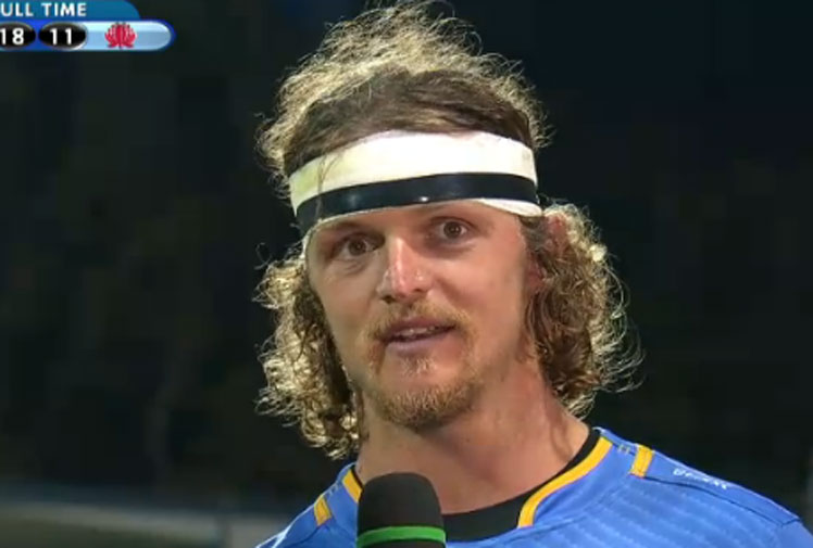 "<b>Master of the one-liner Nick ""Honey Badger"" Cummins has once again delved into his box of Badgerisms with a hilarious post-match interview after the Western Force-Waratahs match.</b><br/><br/>Speaking of the challenge of playing the Super Rugby champs, Cummins made mention of ""midgets"" and admitted the Tah's will ""take your scone off"" as they come out like ""raging bulls"".<br/><br/>Just another, day in the side-splitting world of the ""Honey Badger"". <br/><br/>Click through to catch more of his pearls of wisdom. <br/>"