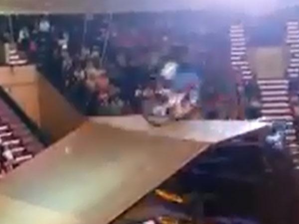 Stunt rider in horrific jumps crash