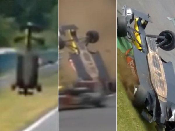 Driver 'skimmed head' along ground in frightening crash