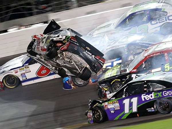 NASCAR driver walks away from horrifying crash
