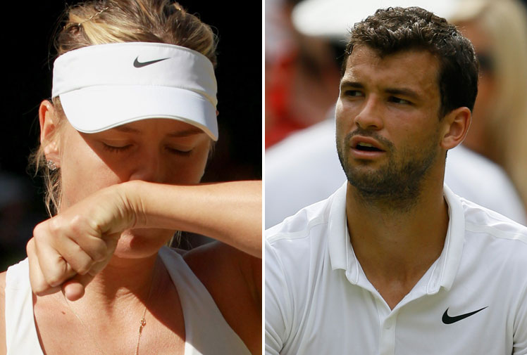 "<b>Tennis glamour couple Maria Sharapova and Grigor Dimitrov have split amid rumours he'd had an affair with a former Bulgarian playmate.</b><br/><br/>Dimitrov announced the split after claims he'd cheated on her with model Nikoleta Lozanova during Wimbledon.<br/><br/>But the world no.16 said the couple called it quits after their ""paths split"".<br/><br/>""We experienced wonderful moments together,"" the Bulgarian said.<br/><br/>""I wish her much happiness and success in life and in tennis.""<br/><br/>"
