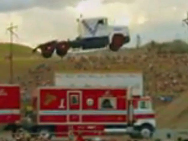 Truck takes flight in world record