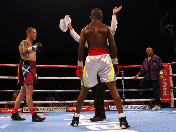 Boxer's camp inexplicably throw in the towel