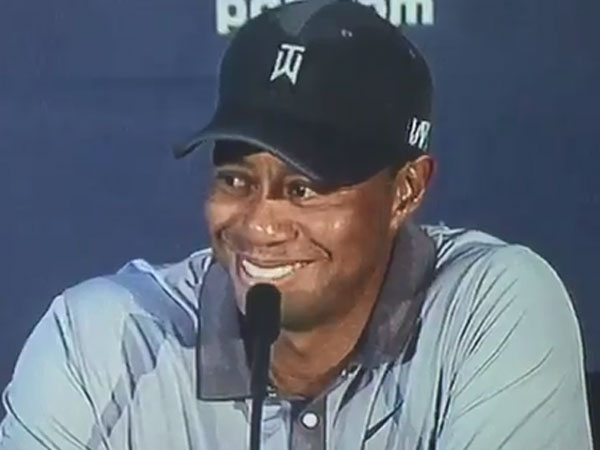 Tiger's joke met with embarrassing silence