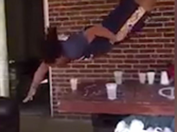 Beer pong player lands best dunk ever