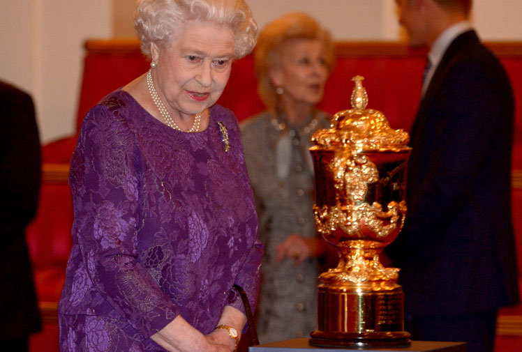 <b>They've knocked out the Queen's team - England - and now the Wallabies are seeking Her Majesty's support as they prepare for their World Cup quarter-final clash with Scotland.</b><br/><br/>The Queen and her grandson Prince Harry welcomed the stars of the Rugby World Cup - including key Wallabies - to a reception at Buckingham Palace overnight.<br/><br/>And skipper Stephen Moore revealed before the meeting - attended by coach Michael Cheika and several squad members - that he was seeking the Royal's backing ahead of their clash with Scotland and possibly Ireland in a semi-final should they progress to the next stage.<br/><br/>