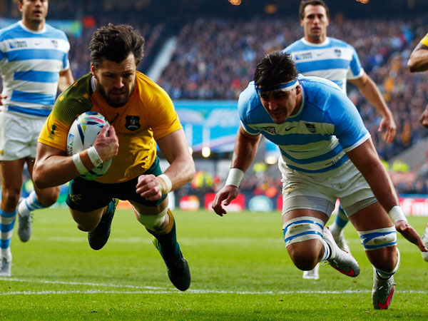 Adam Ashley-Cooper scores one of his tries. (Getty)