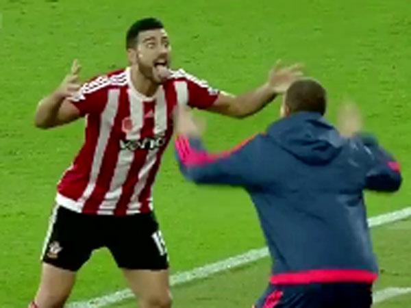 Striker celebrates goal with haka