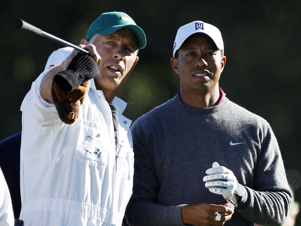 Steve Williams and Tiger Woods. (AAP)