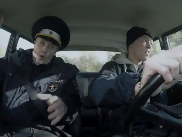 Russian F1 racer's hilarious driving test