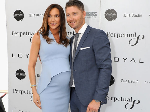 Michael Clarke with his model wife, Kyly. (Getty-file)